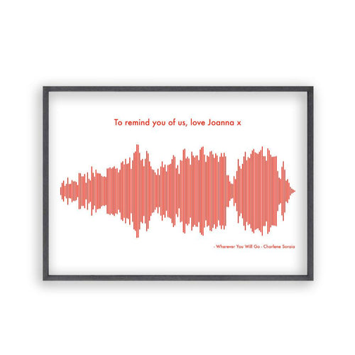 Personalised Sound Wave Music Song Print - Blim & Blum