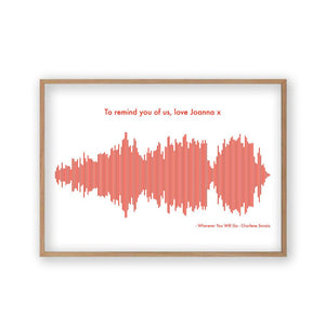Personalized Sound Wave Music Song Print - Blim & Blum