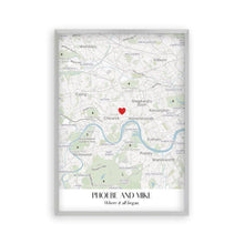 Load image into Gallery viewer, Personalized Special Place Map Print - Blim & Blum