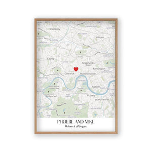 Personalized Special Place Map Print - Blim & Blum