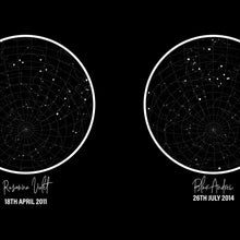 Load image into Gallery viewer, Personalized Trio Of Star Maps Print - Blim & Blum