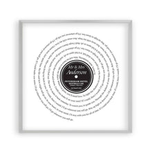 Load image into Gallery viewer, Personalized Vinyl First Dance Song Record Lyrics Print - Blim & Blum