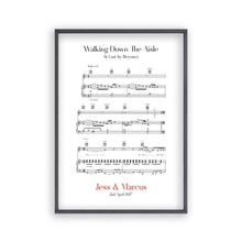 Load image into Gallery viewer, Personalized Walking Down The Aisle Music Sheet Notes Print - Blim & Blum