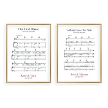 Load image into Gallery viewer, Personalized Wedding Day Sheet Music - Set Of 2 Prints - Blim & Blum
