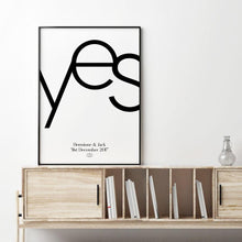 Load image into Gallery viewer, Personalized Yes Engagement Print - Blim & Blum