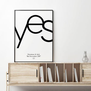 Personalized Yes Engagement Print - Blim & Blum