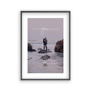 Personalized You Me We Couple Photograph Print - Blim & Blum
