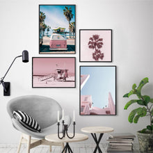 Load image into Gallery viewer, Pink Building Print - Blim & Blum