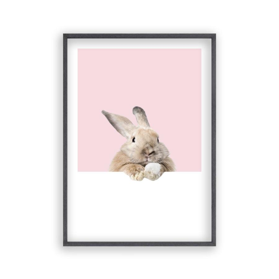 Rabbit Peeking Print - Blim & Blum