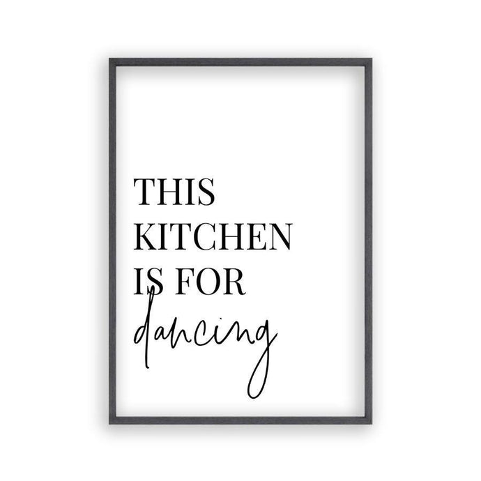 This Kitchen Is For Dancing Print - Blim & Blum