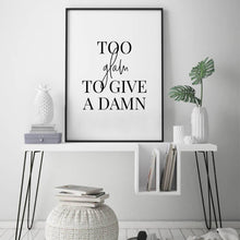 Too Glam To Give A Damn Print - Blim & Blum