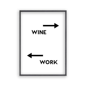 Personalized Drink Work Direction Print - Blim & Blum