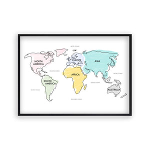 World Map Watercolor Print - Blim & Blum