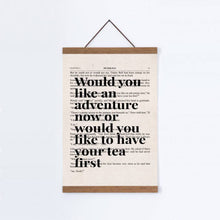 Load image into Gallery viewer, Peter Pan Would You Like An Adventure Tea Quote Book Print - Blim & Blum