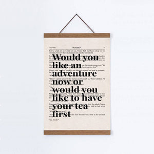 Peter Pan Would You Like An Adventure Tea Quote Book Print - Blim & Blum
