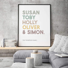 Load image into Gallery viewer, Personalized Family Names Print - Blim & Blum