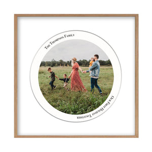 Personalized Circular Photo Print