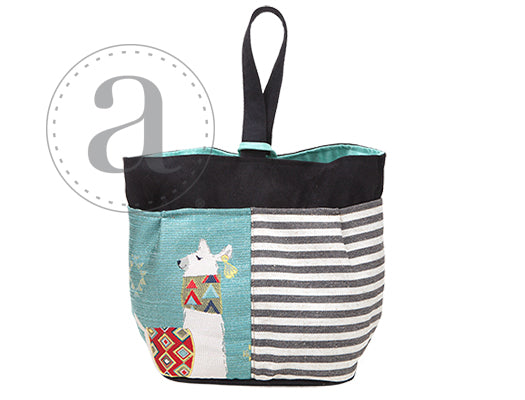 Atenti Llama knitting bag caddy