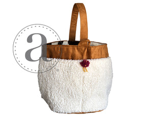 Atenti Sherpa Sheep knitting bag