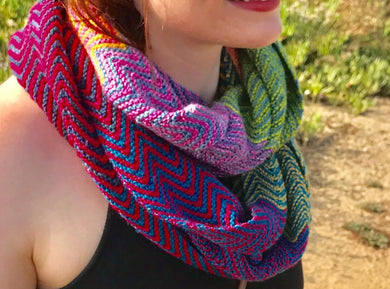 Wings Cowl Knitting Kit - Baah Yarn La Jolla