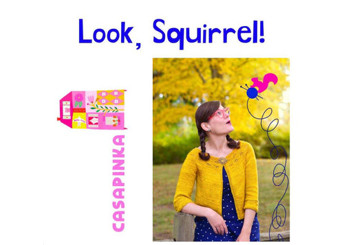 Look Squirrel by Casapinka Knitting Kit