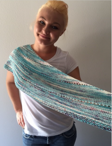 dipped and dappled knitting pattern baah