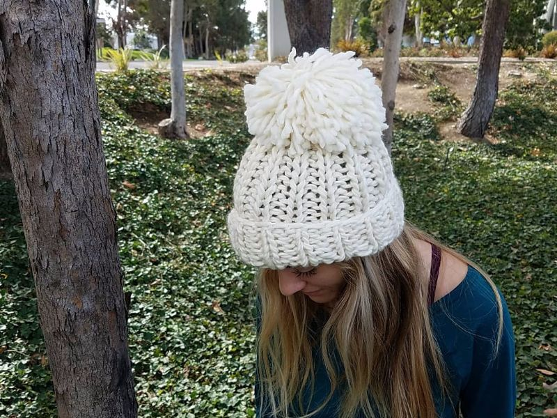 Gold Medal Hat Knitting Kit - Chloe Kim Hat - By Jen Geigley – The ... 06db6bbfd61