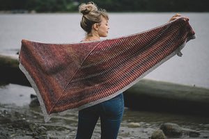 Andrea Mowry Cinnabar by Knitting Kit with Baah Yarn