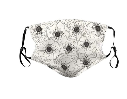 Flowery Reusable Face Covering With Adjustable Strap