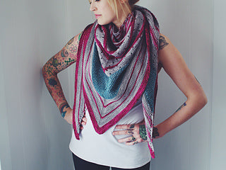 Andrea Mowry FunFunFun Shawl Baah Yarn Knitting Kit