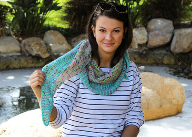 Sunset Blvd Shawl Knitting Kit by Mira Cole