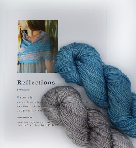 Reflections Knitting Kit by Baah Yarn