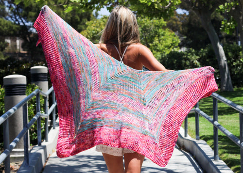 Monthly Shawl Knitting Kit by Baah Yarn