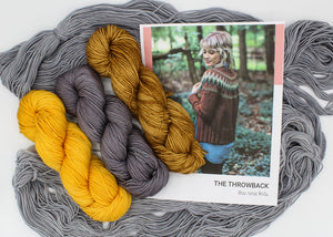 The Throwback Sweater Andrea Mowry Knitting Kit