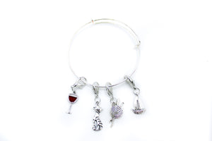 Stitch Marker Bracelet Set - 1 Bracelet with 1 Stitch Marker