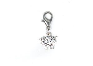 Baah Sheep Stitch Marker Silver