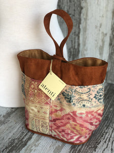Atenti Linen Patch Tall Caddy