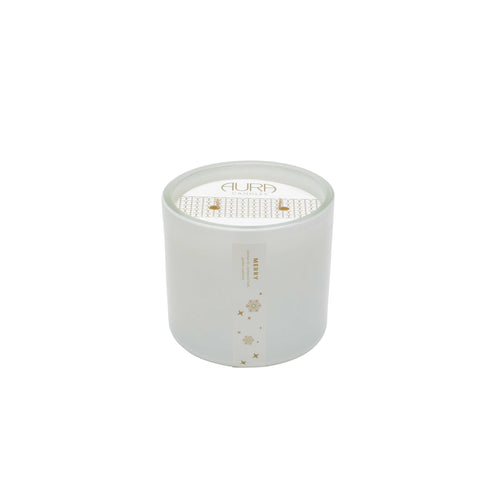 Aura Double Wick Candle Merry - Holiday Blend