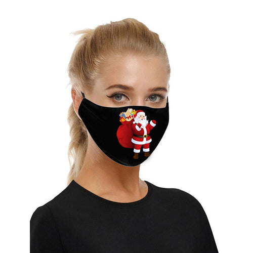 Santa Clause Adjustable Face Covering