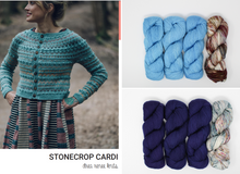 Stonecrop Cardi Knitting Kit by Andrea Mowry Using Baah Yarn