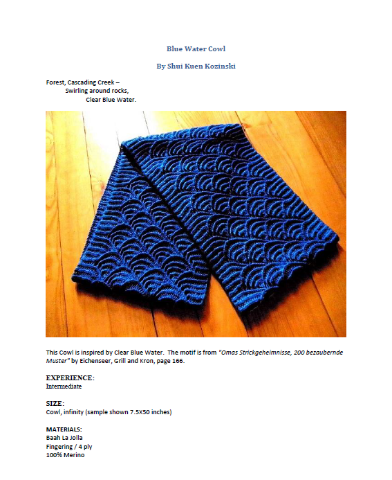 blue water cowl knitting pattern