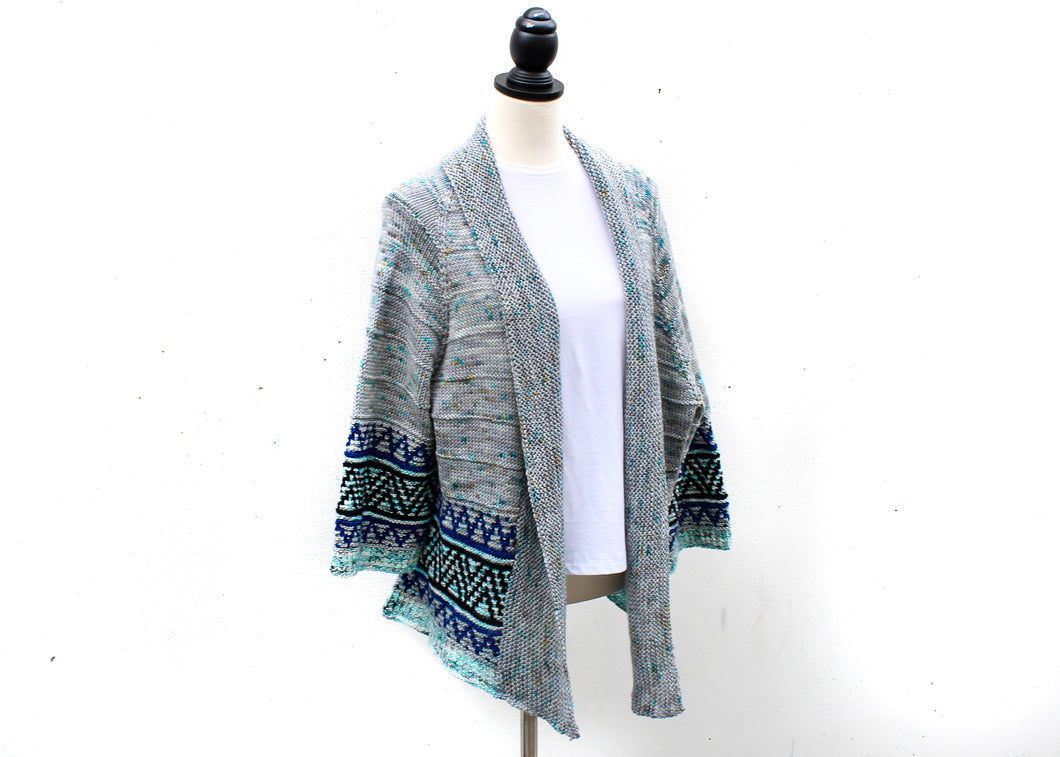 Boho Style Mosaic Cardigan by Irene Lin Knitting Kit