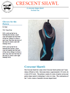 Crescent Shawl Pattern
