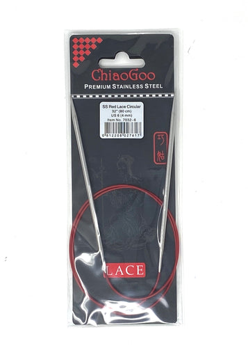ChiaoGoo Red Lace Circular Needles - US 6 - 24 Inches