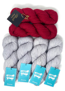 Cinnabar by Andrea Mowry Knitting Kit with Baah Yarn