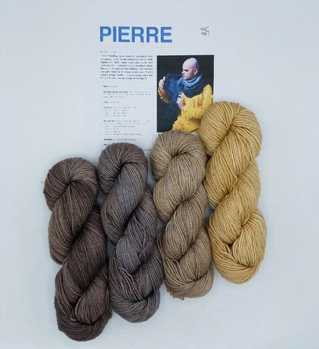 Pierre by Stephen West knitting kit Baah Yarn