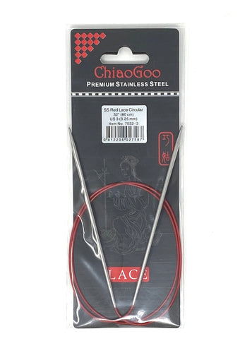 ChiaoGoo Red Lace Circular Needles - US 3 - 32 Inches