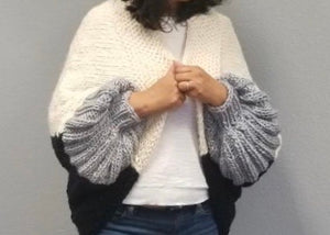 Cocoon Shrug Knitting Kit Baah Yarn