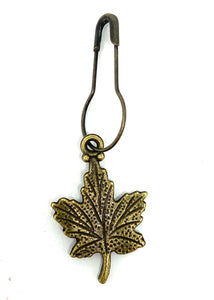 Leaf Stitch Marker Bronze