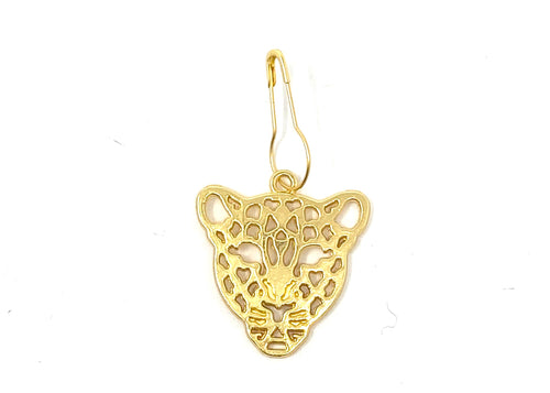 Gold Cheetah Leopard Knitting Stitch Marker